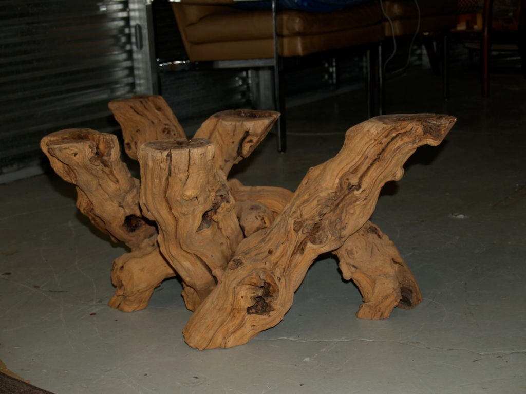 Driftwood Table Set Coffee Table And End Table At 1stdibs