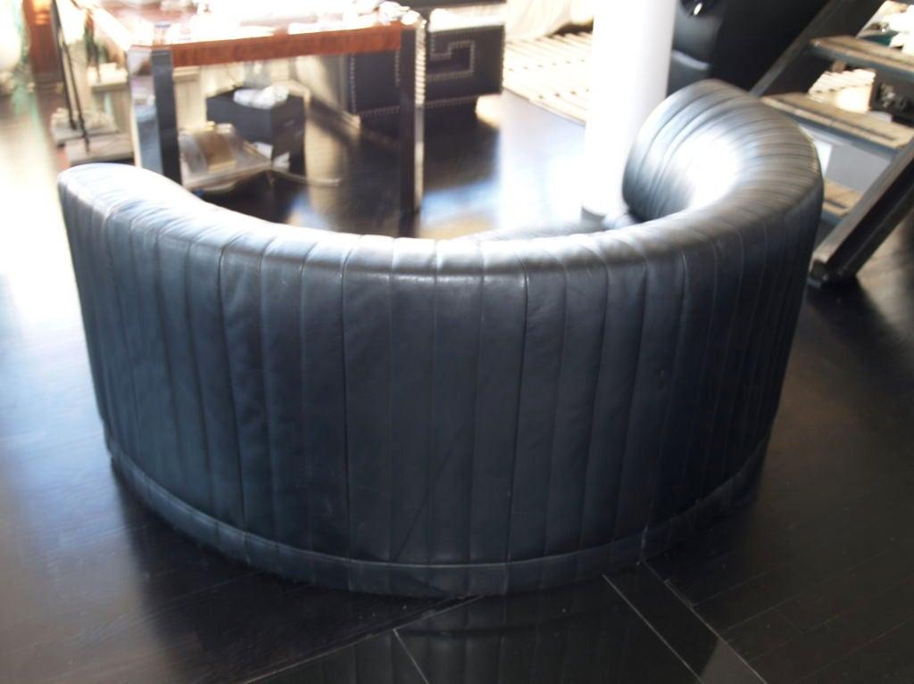 Vintage Maurice Villency Cresent Leather Sofa At 1stdibs