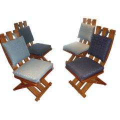 4 Harvey Probber deck chairs