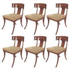 6 klismos chairs