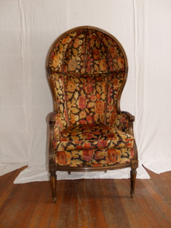 Pair Of Porters Chairs With Matching Foot Rests Hooded