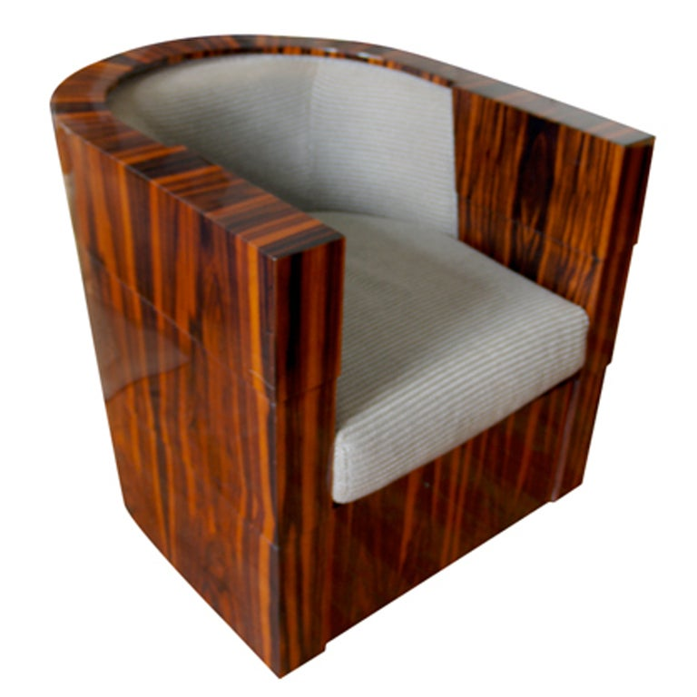 Macassar Normandy deco swivel tub chair for Pace  : 8788133268806511 from 1stdibs.com size 768 x 768 jpeg 52kB