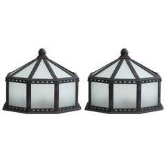 Wrought Iron Garden Lanterns, Lights