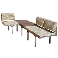 Mid Century modern John Behringer Aluminum Link Bench for J&G