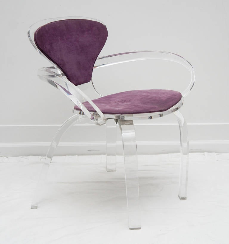 set of 4 Lucite pretzel chairs, after Cherner     (available as single or pair) 10