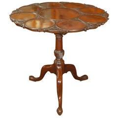 English Tilt-Top Supper Table of Mahogany