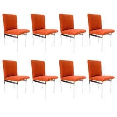 8 Mid Century Chrome Pace Collection dining Chairs