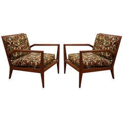Pair of Mid Century Armchairs after Gibbings or Wormley