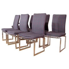 Set of Eight Chrome Dining Chairs for Pieff of England, After Baughman