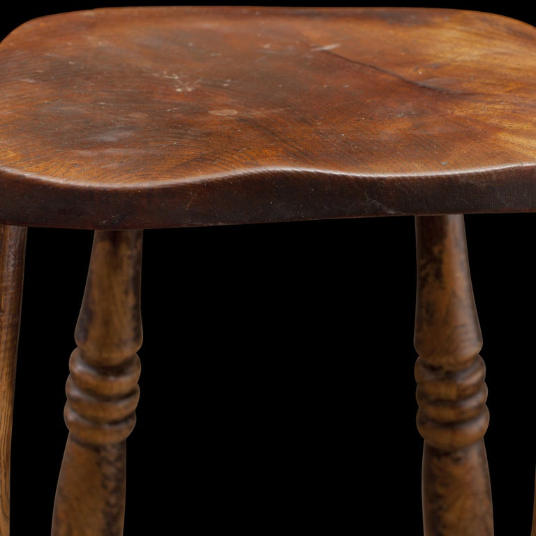 Tall Wooden Stools ~ Tall wooden work stool at stdibs