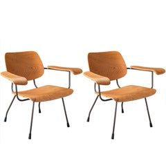 Pair of Tjerk Reijenga Model 8000 Lounge Chairs, Netherlands, circa 1962