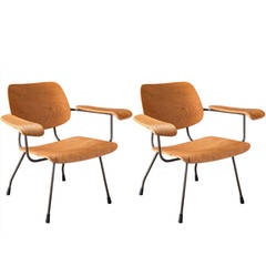 Pair of Tjerk Reijenga Model 8000 Lounge Chairs, circa 1962