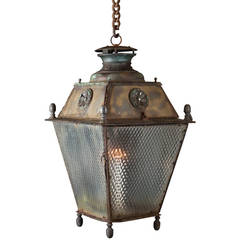 Metal and Glass Outdoor Lantern