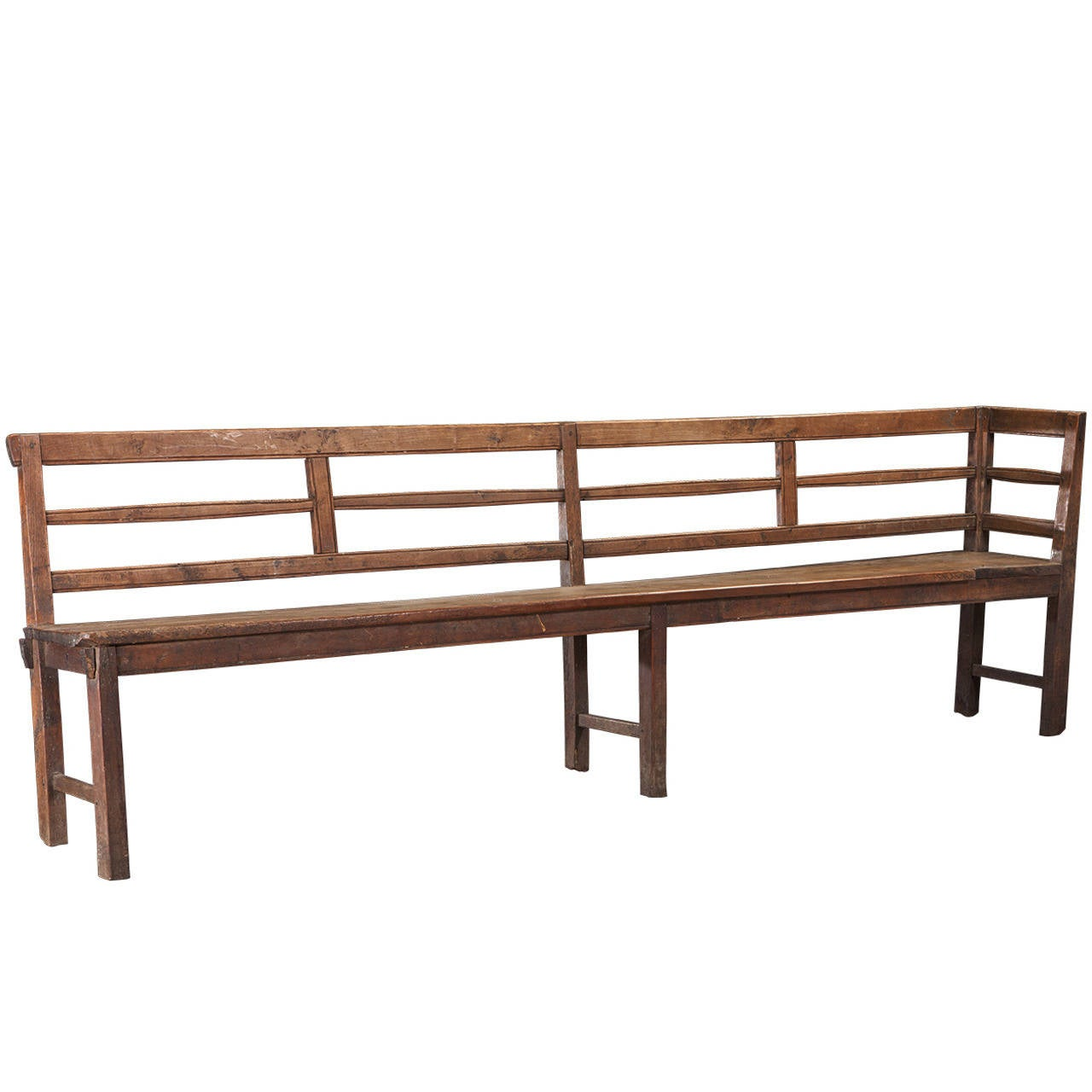 Primitive Long Wooden Bench At 1stdibs