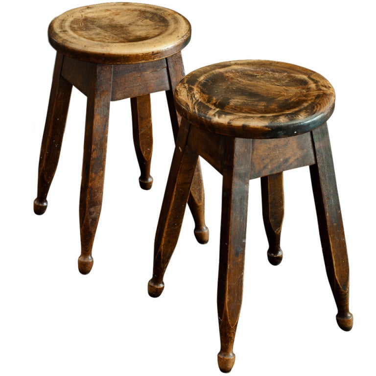 Edwardian Kitchen Stools At 1stdibs