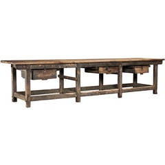 Massive Industrial Table or Workbench