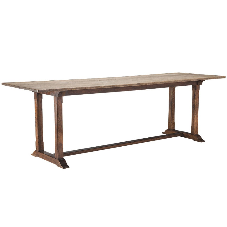 Oak Refectory Dining Table For Sale