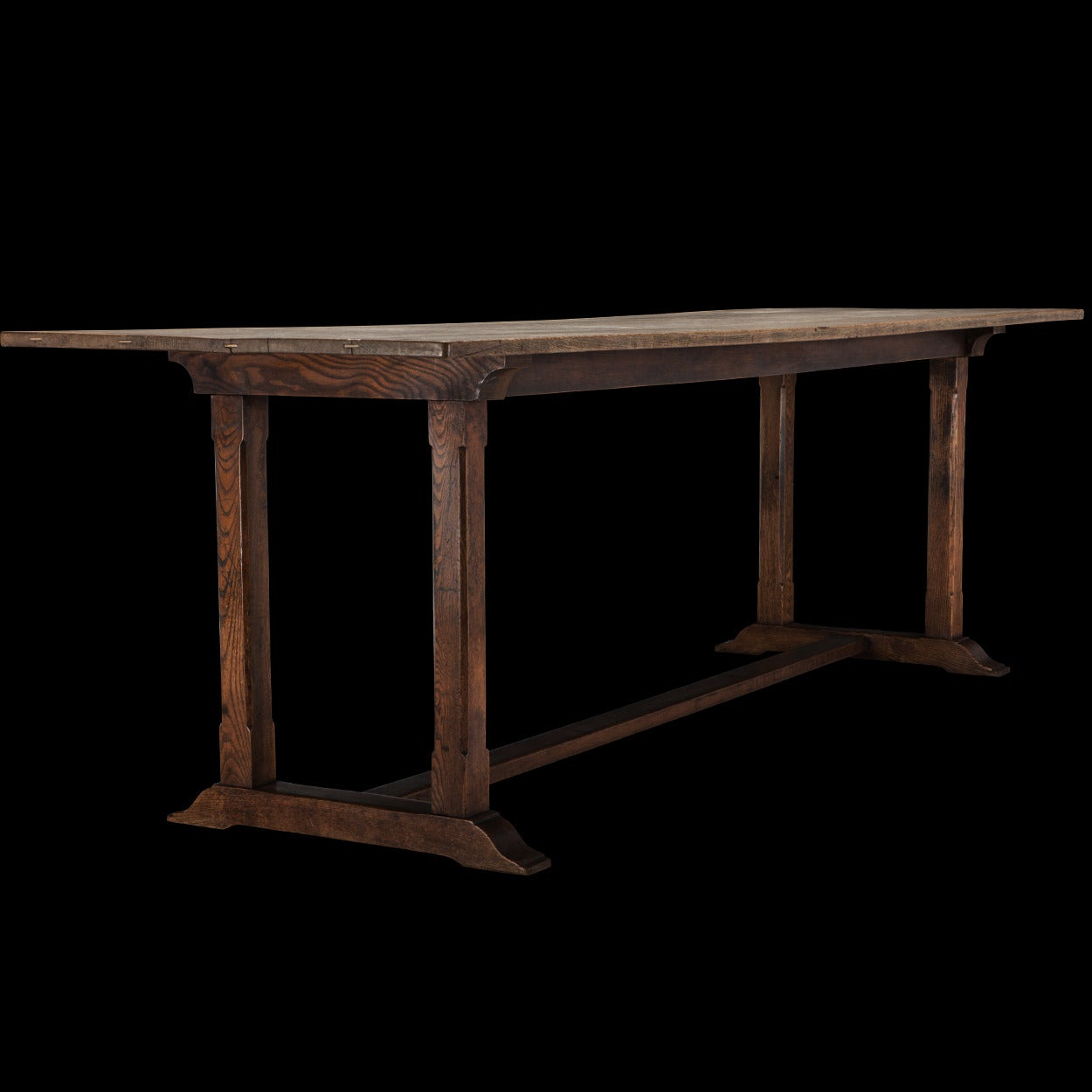 Oak Refectory Dining Table For Sale 3