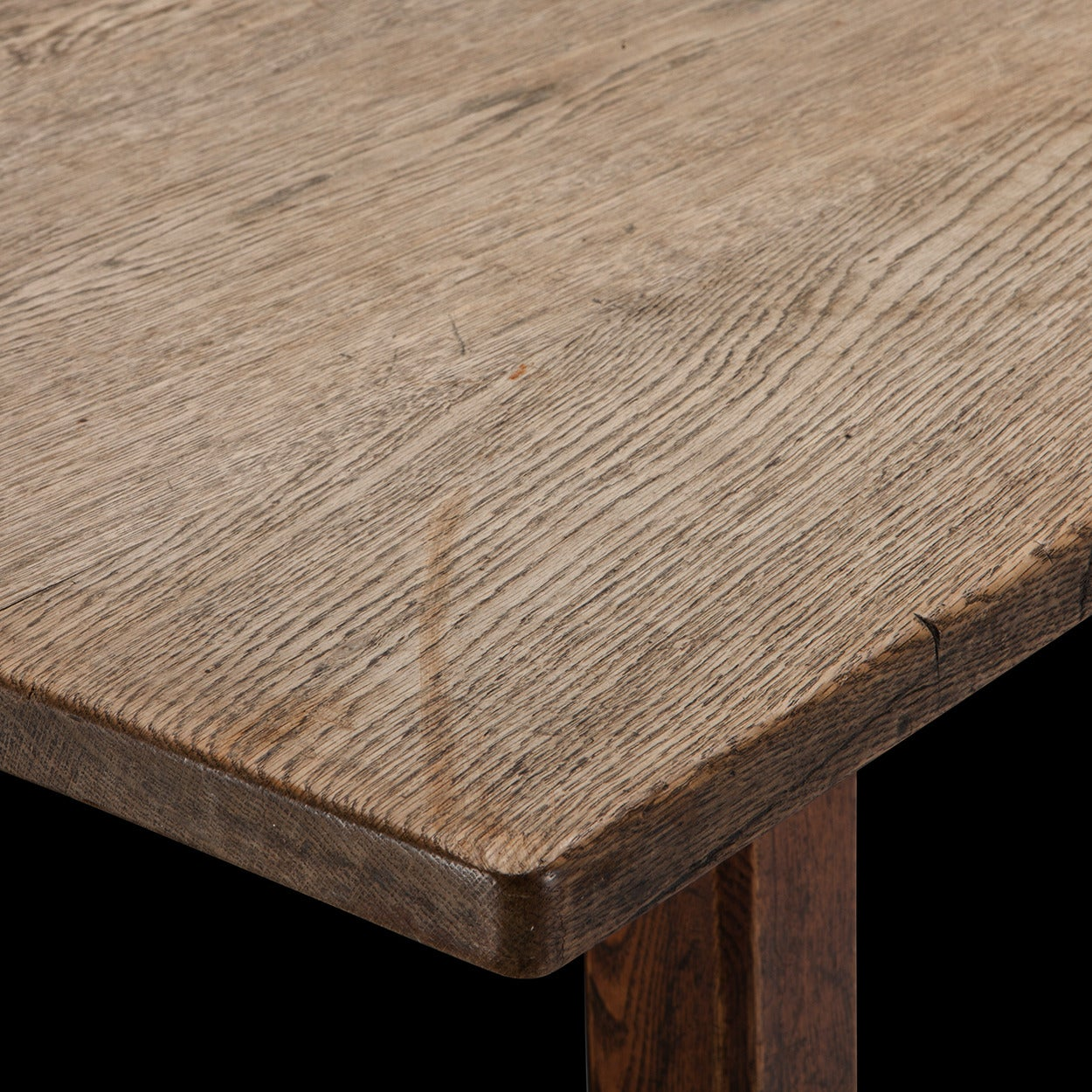 English Oak Refectory Dining Table For Sale