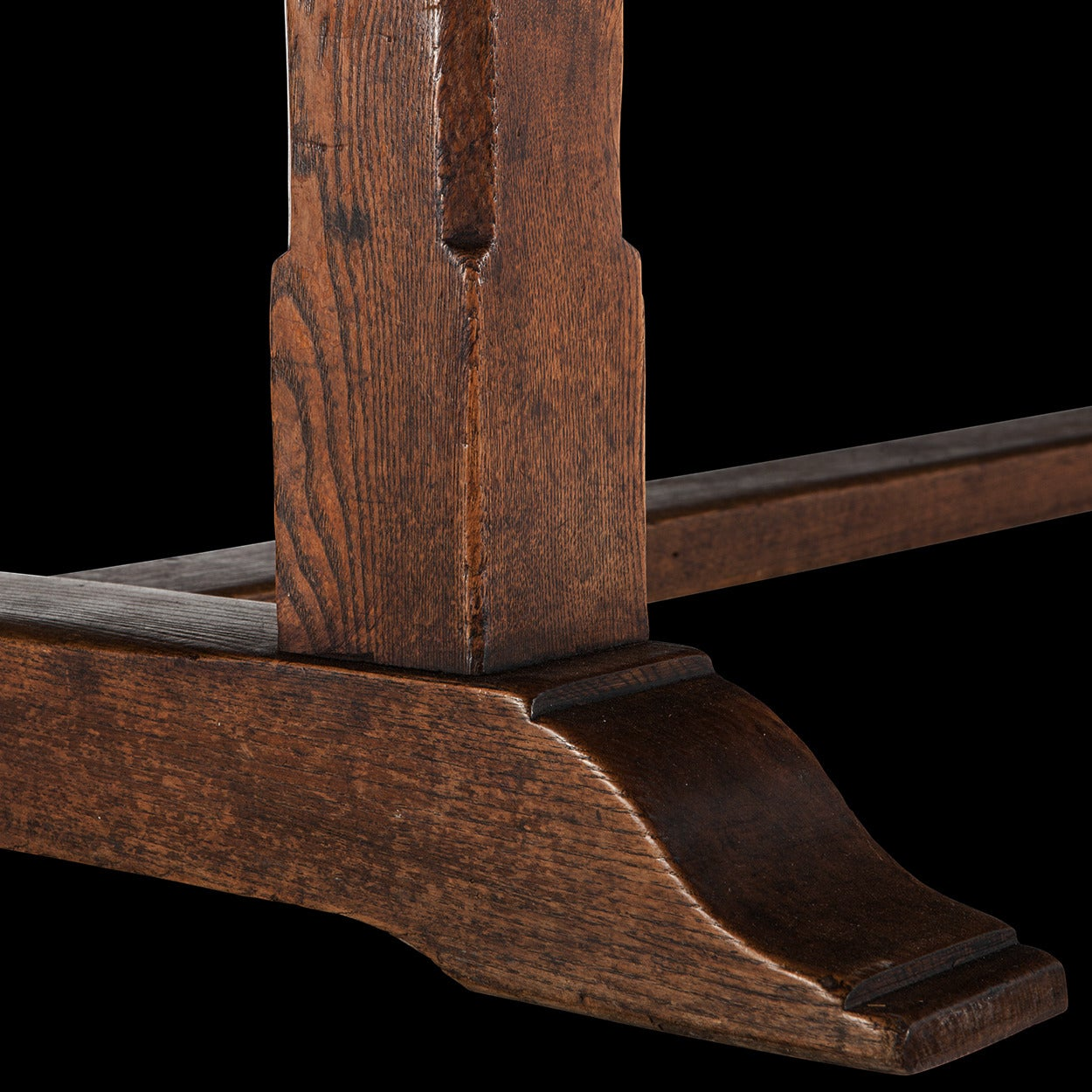 Early 20th Century Oak Refectory Dining Table For Sale
