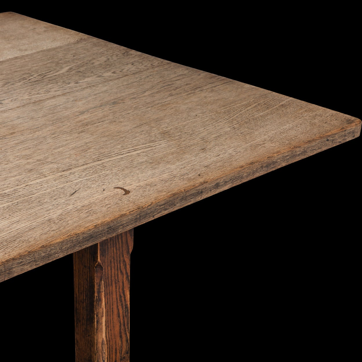 Oak Refectory Dining Table For Sale 1