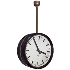 Bakelite Double Face Station Clock