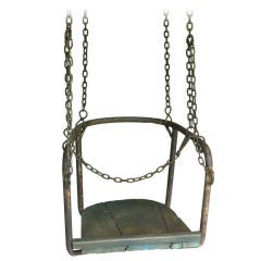 French 1920's Amusement Park Swings thumbnail 1