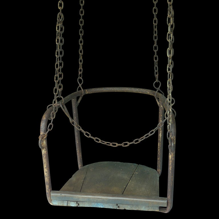 French 1920's Amusement Park Swings image 2