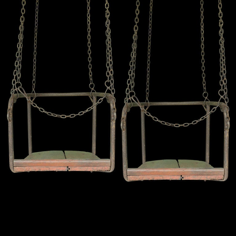 French 1920's Amusement Park Swings image 4