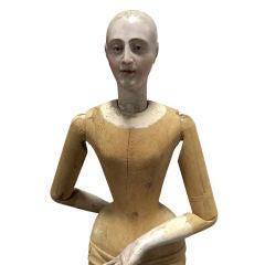 Monumental Hand Carved Italian Madonna Santo