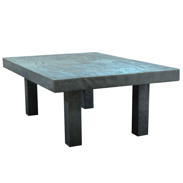English Zinc Coffee Table At 1stdibs