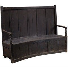 Primitive English Settee