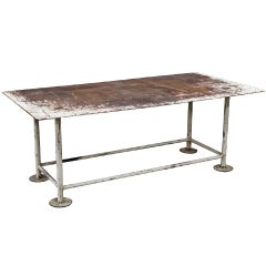 Industrial Iron Work Table