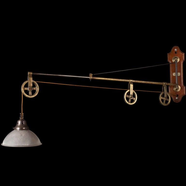 Extension Arm Pulley Light at 1stdibs
