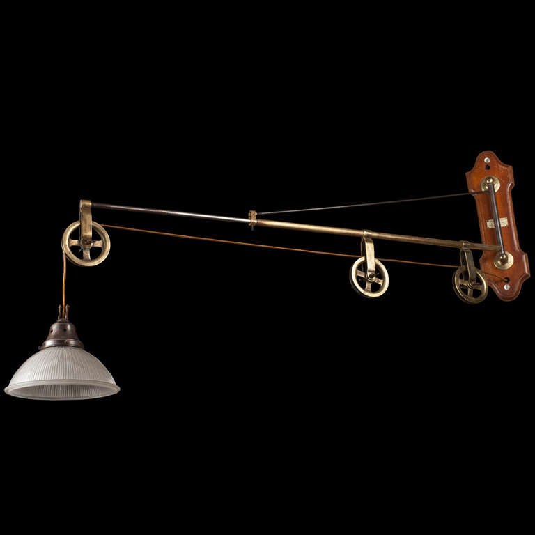 Wall Extension Light : Extension Arm Pulley Light at 1stdibs
