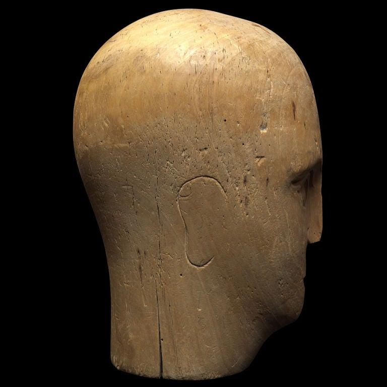 Wooden Mannequin / Hat Display Head For Sale 3