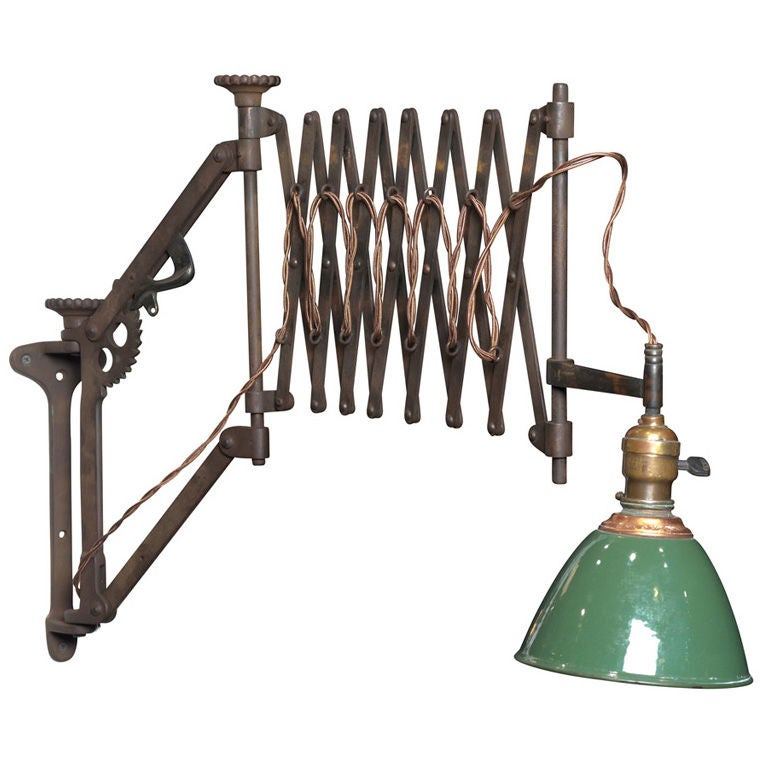 Industrial Scissor Wall Lights : O.C. White industrial Scissor Wall Light at 1stdibs