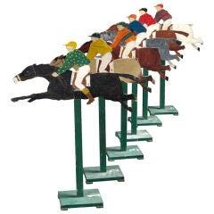 Six Italian Racing Horses from a Carnival Arcade