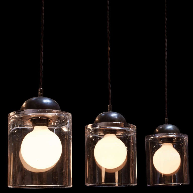 Glass Jar Pendant At 1stdibs