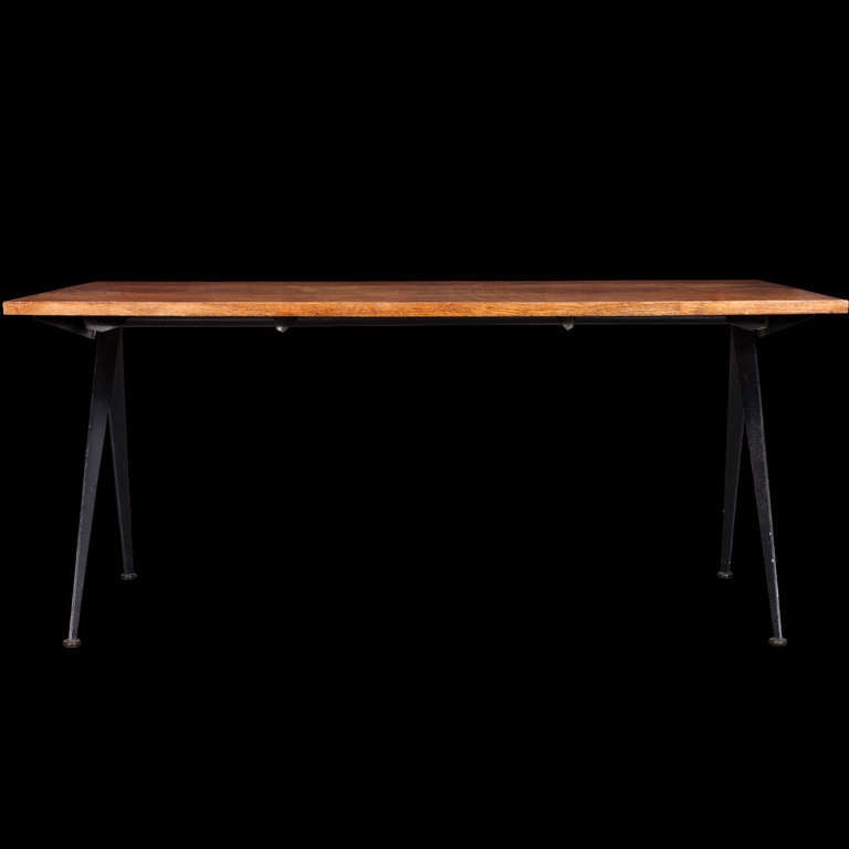 Mid-20th Century Jean Prouve Compass Desk For Sale