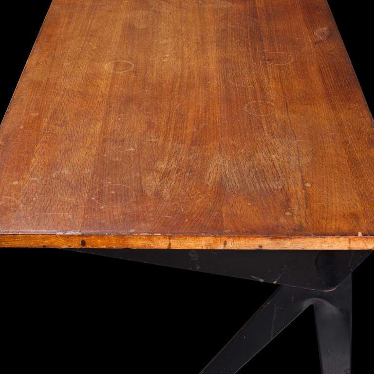 Mid-Century Modern Jean Prouve Compass Desk For Sale