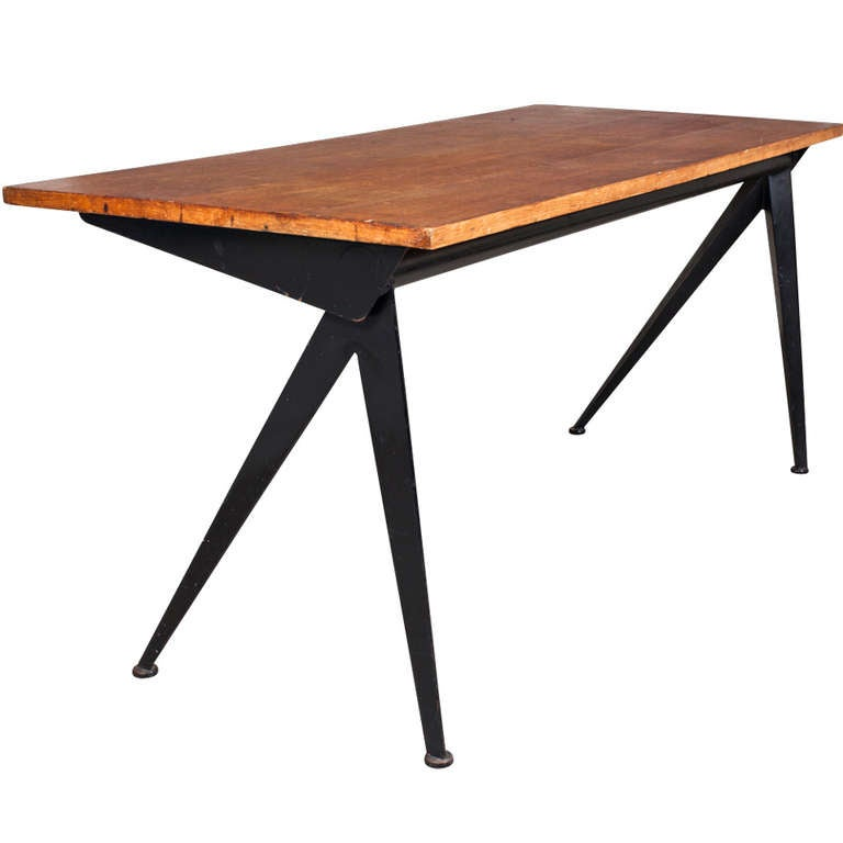 Jean Prouve Compass Desk For Sale