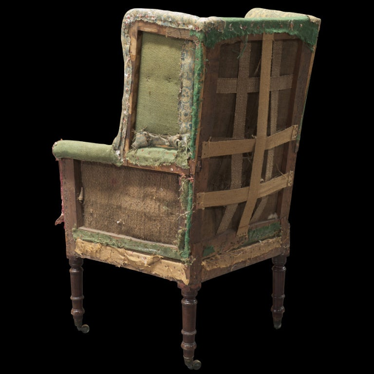 Primitive Tall Back Regency Wing Chair 3