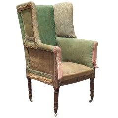 Primitive Tall-Back Regency Wing Chair