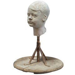 Plaster Sculpture of Child's Head