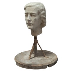 Plaster Sculpture of a Lady's Head
