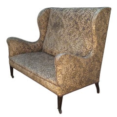 Victorian High Back Wing Sofa