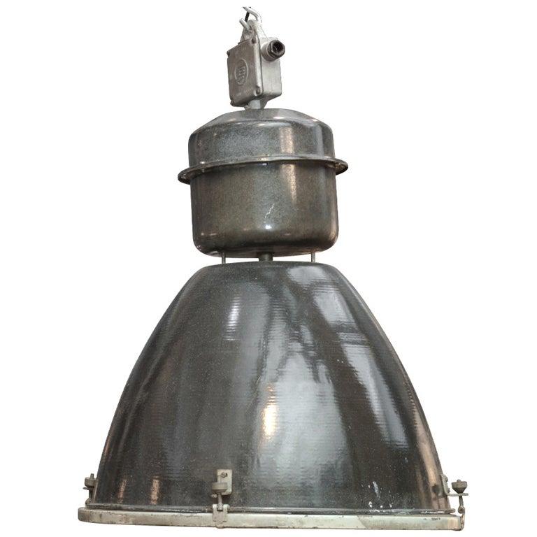 Oversized Industrial Pendant Light At 1stdibs