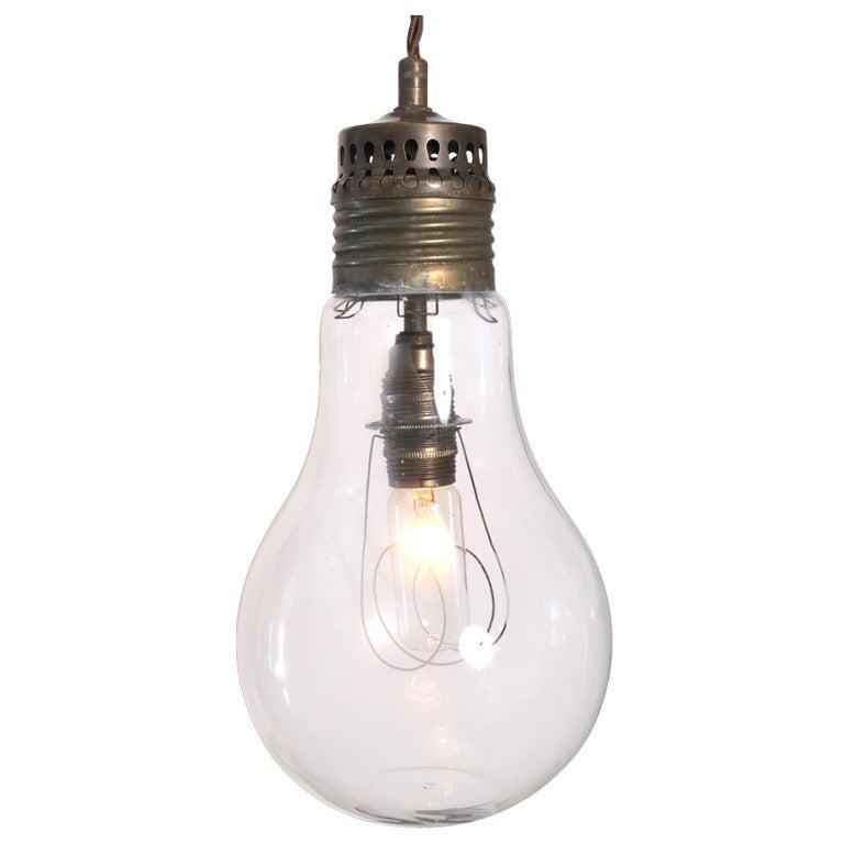 Giant Exposed Light Bulb Ceiling Pendant At 1stdibs