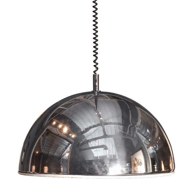 Chrome Rise Fall Large Pendant Light